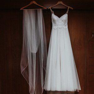 BHLDN Almond Tulle Lace Rosalind Wedding Dress